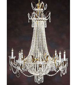 Pristine Regency Crystal Drop Chandelier.