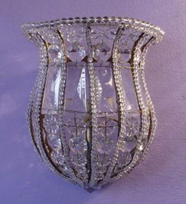 Antique Sconce 1 Light wall lamp.