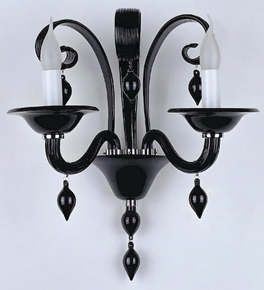 Murano Coloured Glass 2 Light Venetian Style wall lamp.