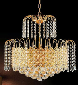 6 Light Waterfall Style Chandelier
