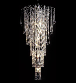 9 Light Waterfall Chandelier