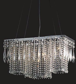 5 Light Crystal Dropper Chandelier