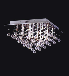 Triangular Crystal Drop Surface Mounted Chandelier