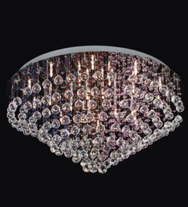 20 Light Crystal Cluster Chandelier