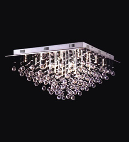 Triangular Crystal Drop Surface Mounted 25 Light Chandelier