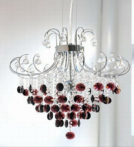 Two Tone Crystal Chandelier