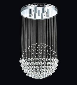 Floating Crystal Ball Chandelier Ceiling Lighting