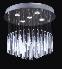 5 Light Floating Icicle Chandelier