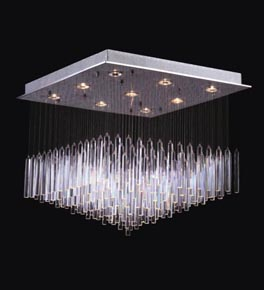 9 Light Floating Icicle Chandelier