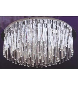 22 Light Icicle Flush Fitting Chandelier