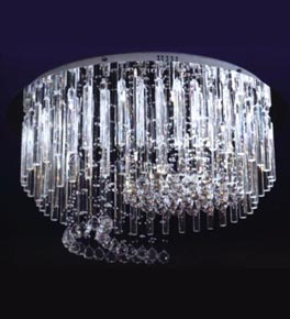 25 Light Crystal Prism Surface Mounted Chandelier