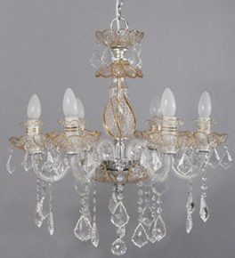 Two Tone Hand Made Murano Style Chandelier