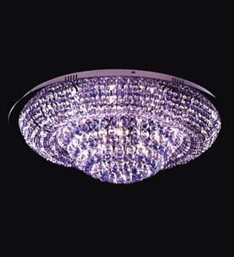 21 Light Two Tone Crystal Ring Ceiling Light