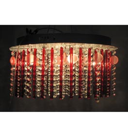 Modern 6 Light Surface Mounted Chandelier