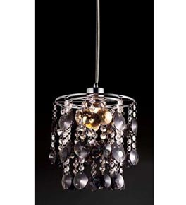 Hanging Crystals Discs Chandelier.