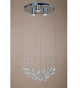 3 Light Delicate Crystal Chandelier