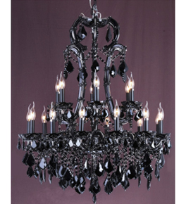 Coloured Glass Drop Murano Style Chandelier