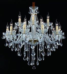 15 Arm Chandelier With Tear Drop Crystal