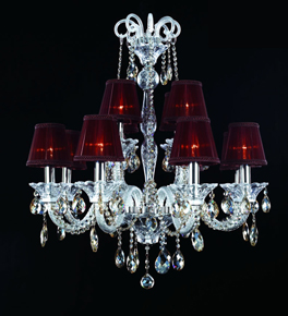2 Tier Chandelier With Shades
