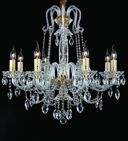 8 Arm Crystal Laura Chandelier