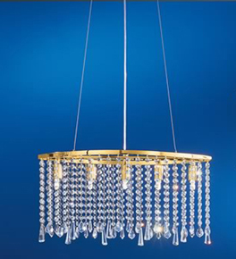 6 Light Crystal Curtain Chandelier