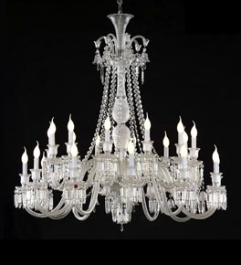 2 Tier Crystal Chandelier