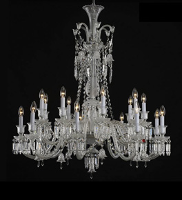 18 Light Baccarat Style Chandelier