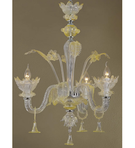 Tinted Murano Glass Floral Style Chandelier