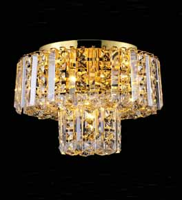 Flush Mounted Coloured Crystal Chandelier