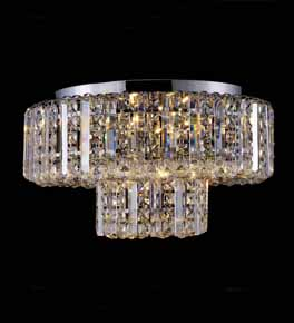 Clear Crystal Chandelier - Surface Mounted