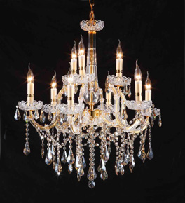 Traditional Coloured Crystal Chandelier