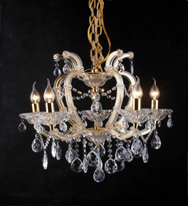 Classic 5 Arm Clear Crystal Chandelier