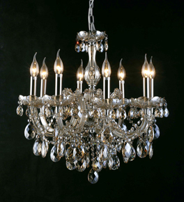 Classic Chandelier With Coloured Crystal