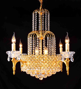 Coloured Crystal Chandelier