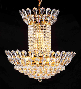 Contemporary Chandelier With Coloured Crystal