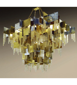 City Design Mosaic Style 28 Light Chandelier