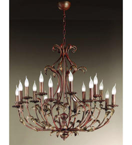 Barocco Collection Chandelier with Curling Leaf Detail