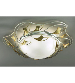 Butterfly design flush 5 light chandelier that has shaped butterfly fly wing decorations