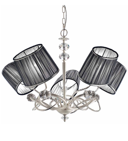 Ombrello Design Chrome Chandelier with Swarovski Crystal