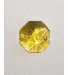 Coloured Faceted Crystal Octagons