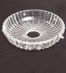 Glass Drip Tray With Stripe and Whirl Design