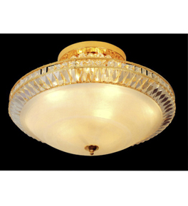 Round Crystal Chandelier - Surface Mounted