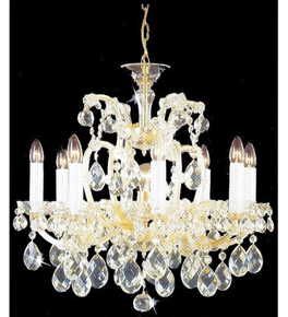 Crystal Chandelier with Hanging Crystal