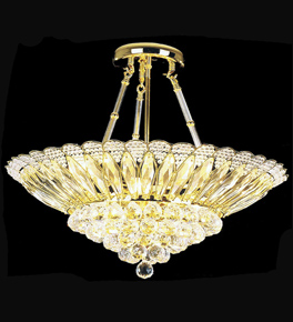 Cone Shaped Crystal Chandelier