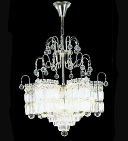 Pristine Crystal Drop Chandelier