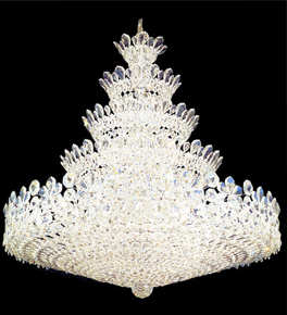 Elegant tiered plate shaped crystal chandelier