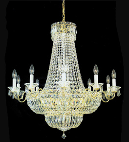 Empire Style Crystal Regency Chandelier
