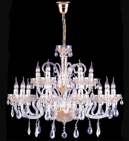 Pristine tiered crystal drop gold detailed chandelier