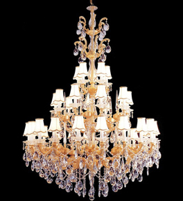19th century design crystal drop chandelier