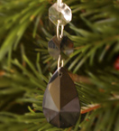 Small Black Faceted Drop Crystal Decoration
